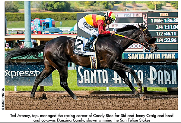 Grade 2 winner Danzing Candy (Benoit Photo)