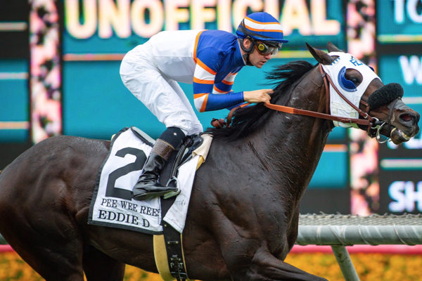 Pee Wee Reese captures the G2 Eddie D Stakes at Santa Anita - Benoit Photo